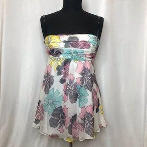 Miss Sixty floral silk/chiffon flowy summer top